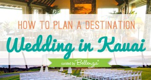 A Guide to Planning a Destination Wedding in Kauai by Bellenza.