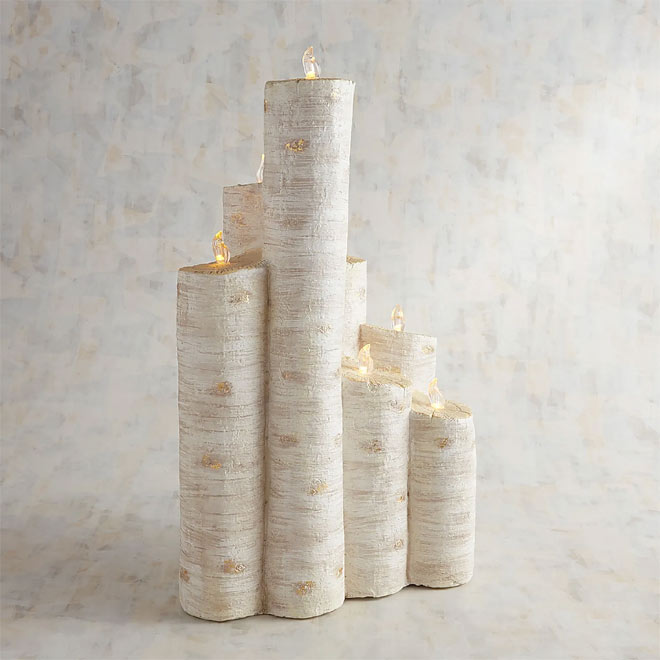 Birch candles available through Pier1