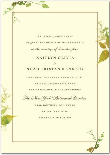 Rustic Print Wedding Invitation