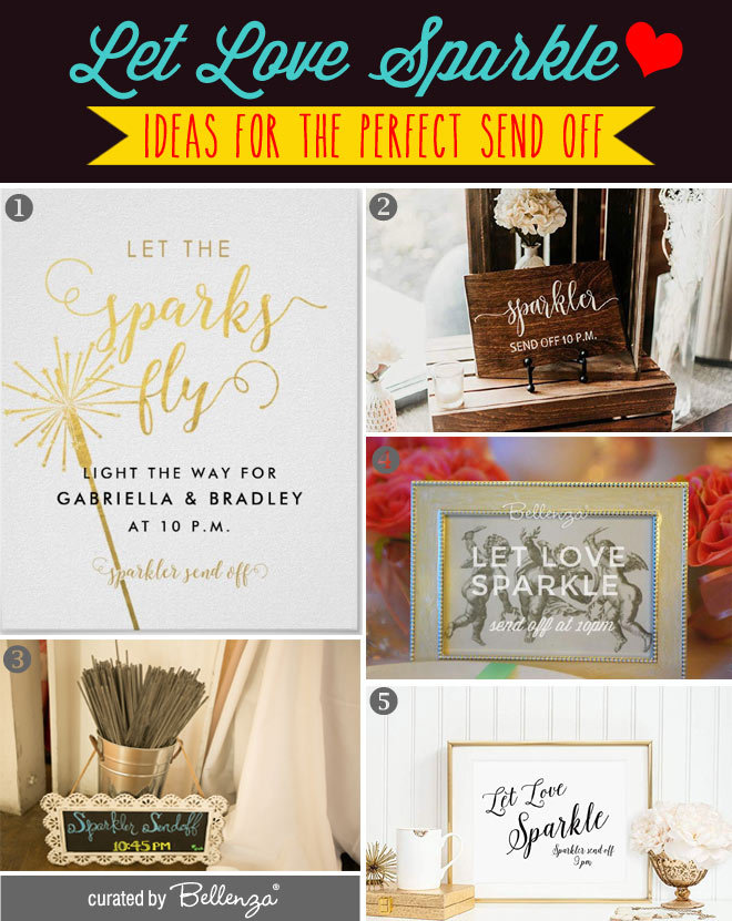 Let Love Sparkle Wedding Signs