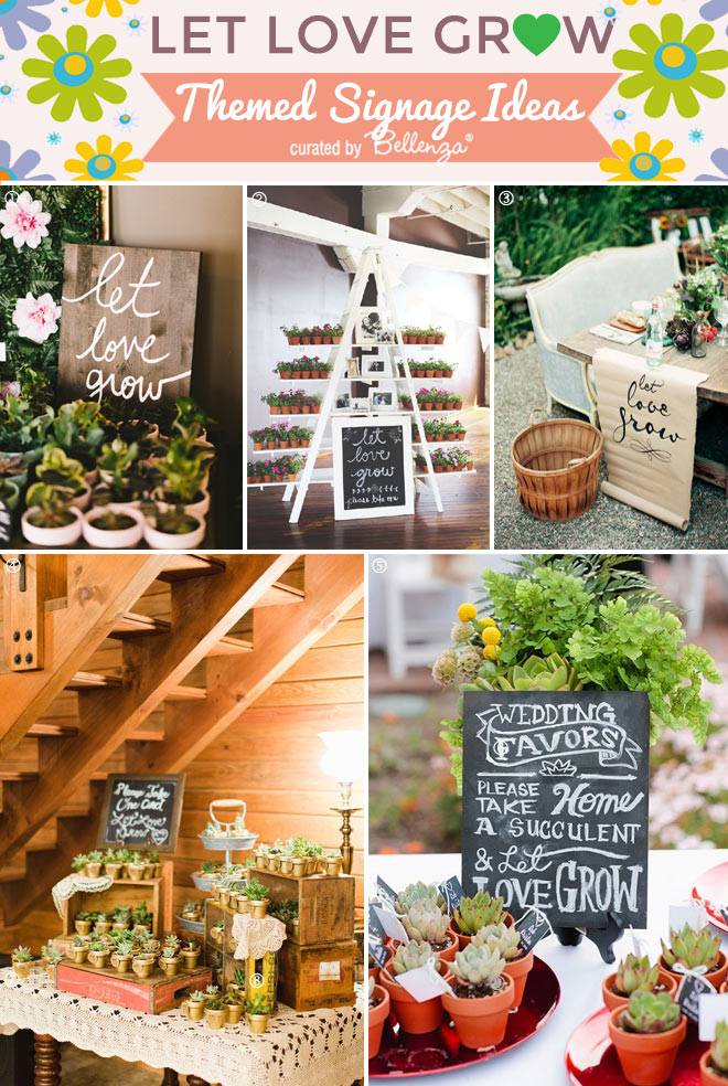 Let Love Grow Signage Ideas for Spring Favors