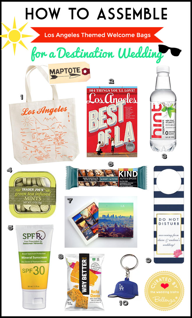Cool Ideas for Los Angeles Wedding Welcome Bags