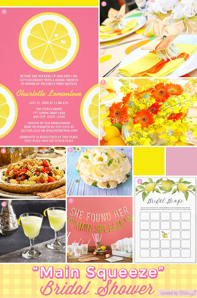 """Main Squeeze"" Bridal Shower Theme with a Limoncello Spin"