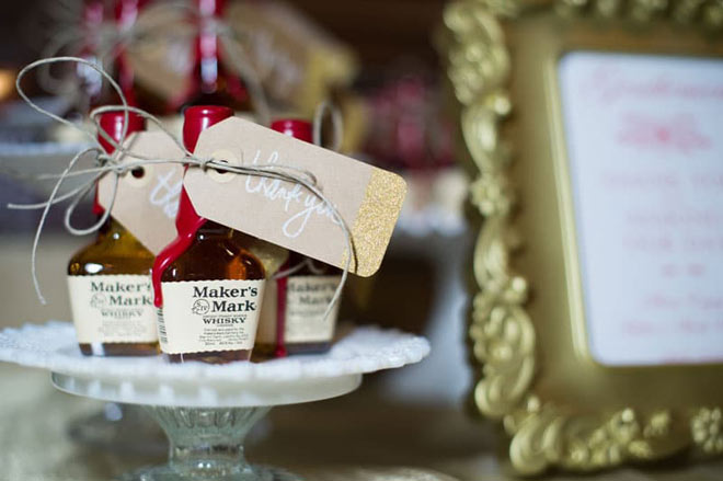 Maker's Mark whisky via Orange Blossom Bride.