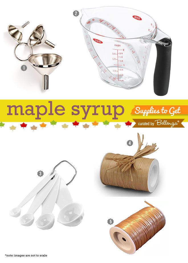 Maple Syrup Supplies for Favors