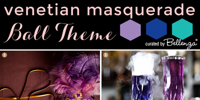 Wedding Styling Inspiration for a Venetian Masquerade Ball Theme