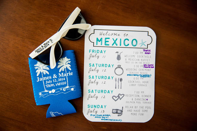 Casual and Cute Itinerary Card