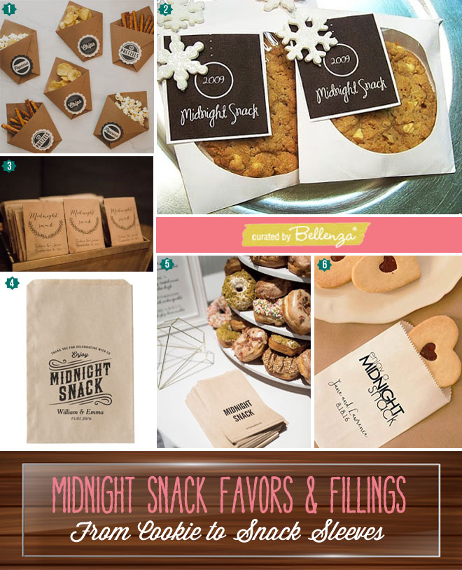Midnight Snacks as Favors: Cookies