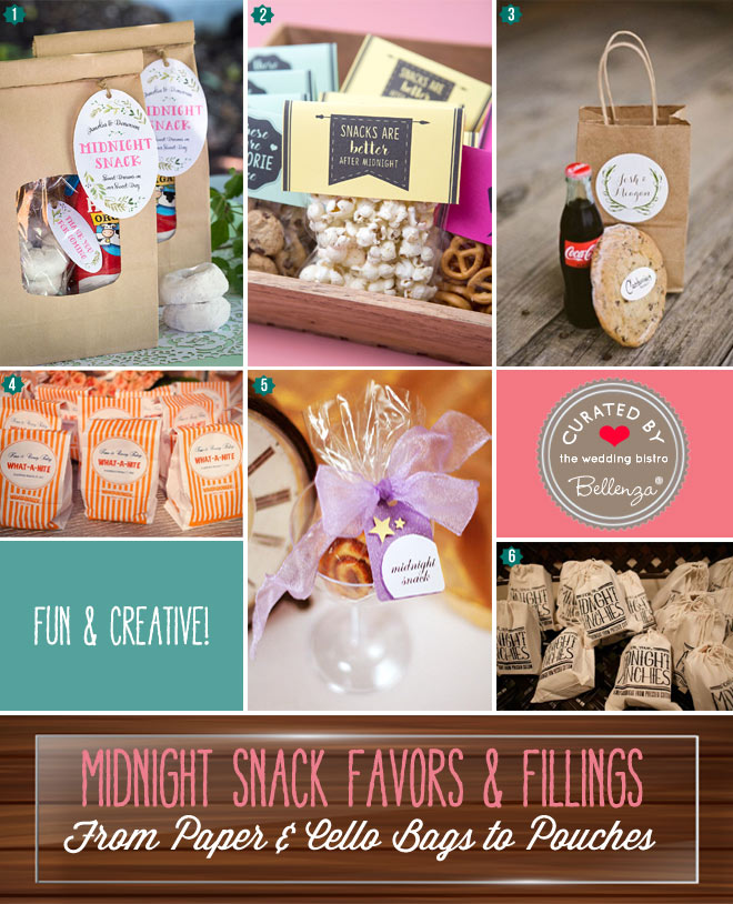 Midnight Snacks as Favors: Bag Ideas