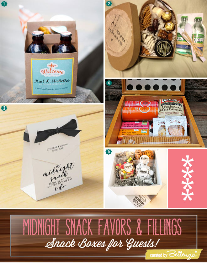 Midnight Snack Boxes for Wedding Guests