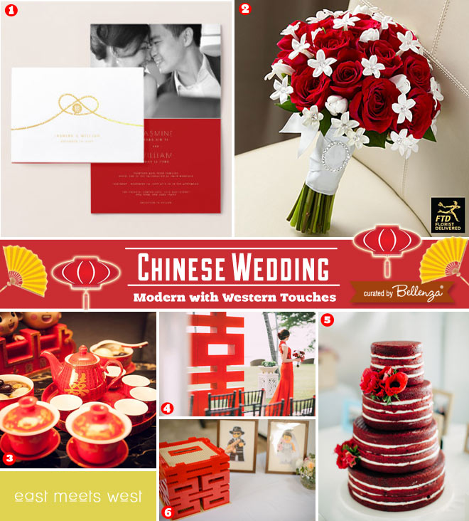 Modern Chinese Wedding Details Where East Meets West