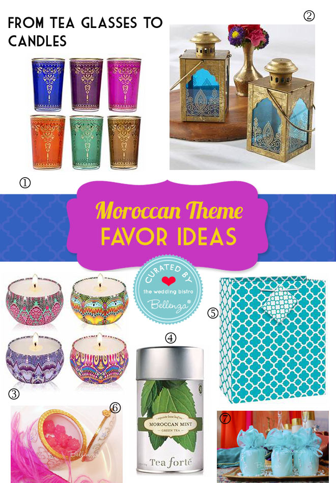 Moroccan themed party favors