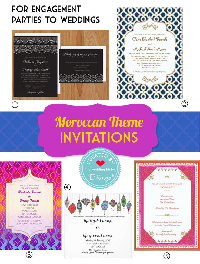 Moroccan engagement party invitations