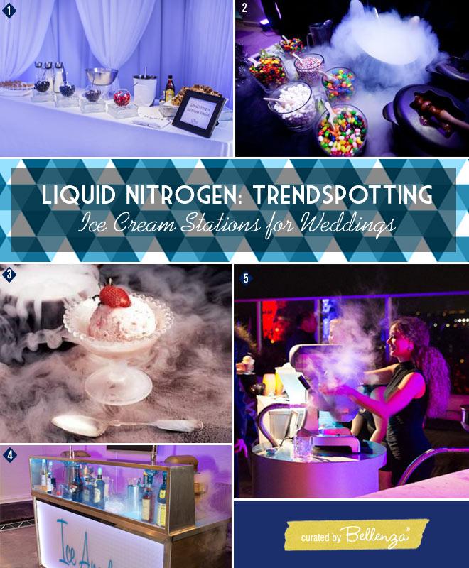 Modern, Minimalist Look Liquid Nitrogen Ice Cream Stations