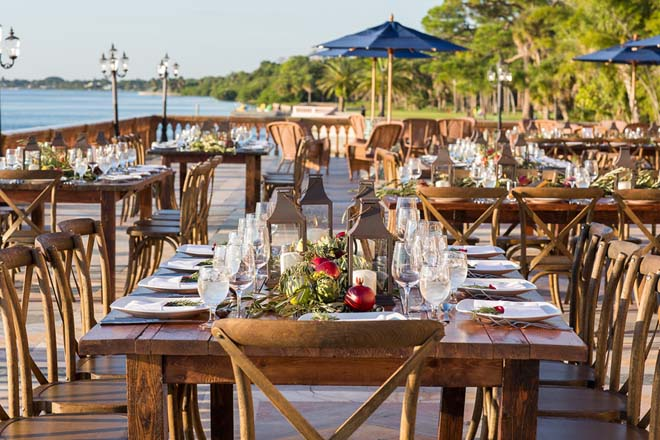 A romantic Tuscan theme and featured on Floridian Social.