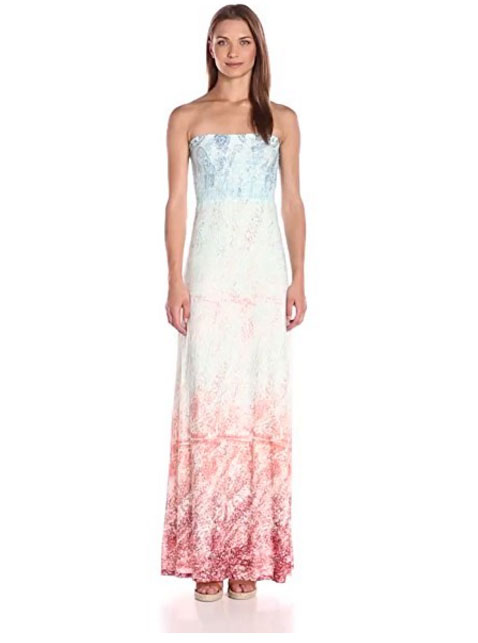 Paisley dress with ombre color