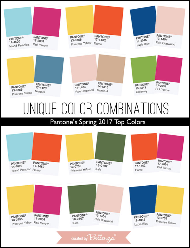 Unique Wedding Color Combinations Using Pantone's Spring 2017 Top Colors
