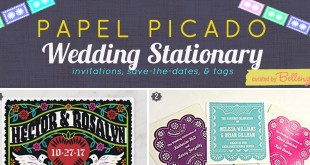 Papel Picado Wedding Invitation to Tags
