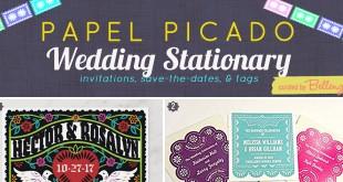Papel Picado Wedding Invitation to Tags