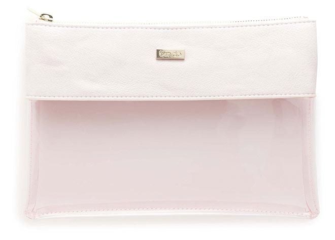 Peekaboo Clutch Bag in Pink Leatherette by ban.do.