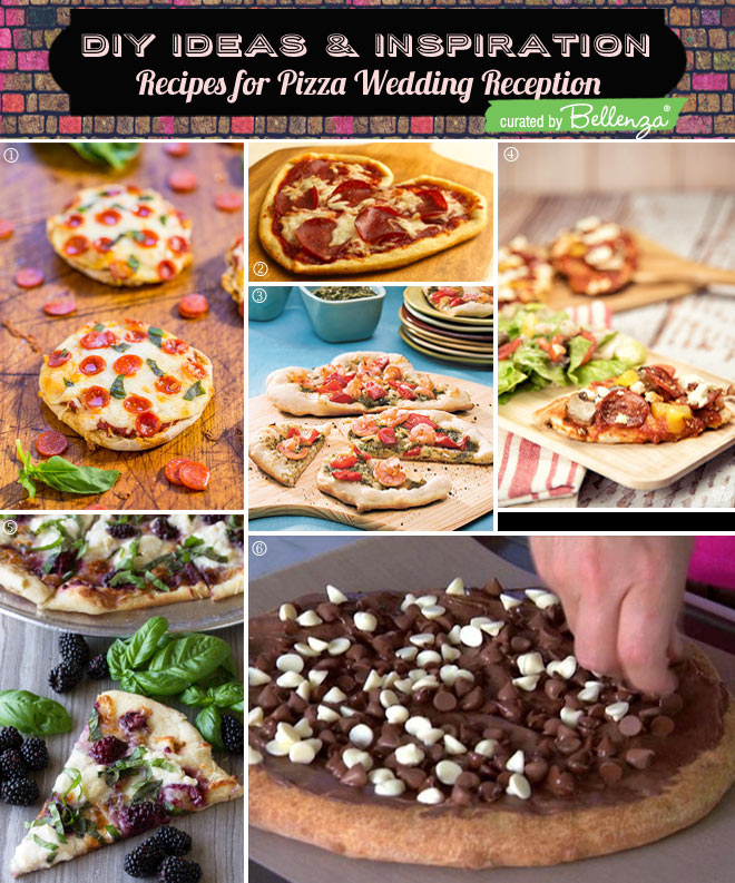 Pizza recipes for a pizza wedding reception.