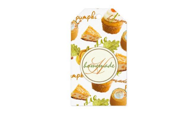 Homemade Pumpkin Gift Tags