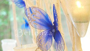 Blue butterflies for wedding decorations
