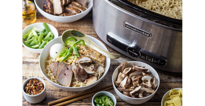 Build Your Own Ramen Bowl Party post, courtesy of The Kitchentusiast (Kitchen Aid blog)