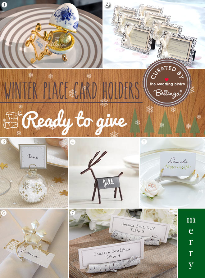 Ready made winter place cards
