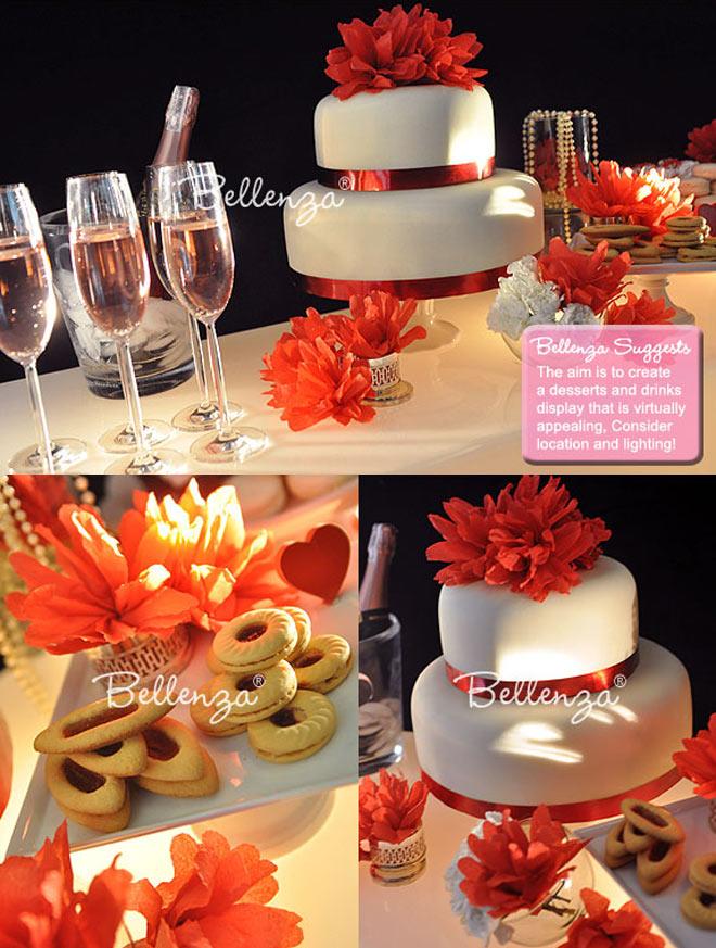 diy wedding cake with minimal decorations