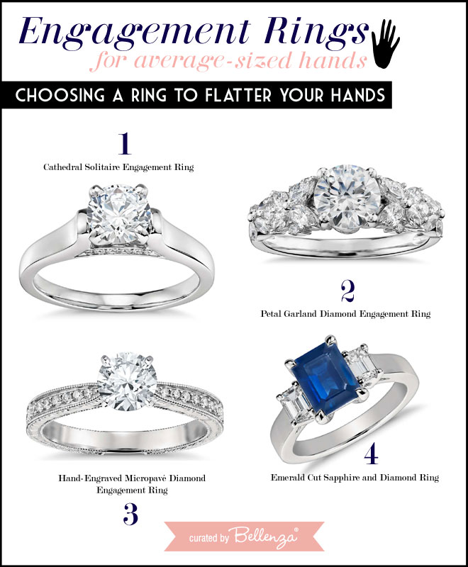 Perfect Ring Choices for Average-sized Hands // Curated by Bellenza.