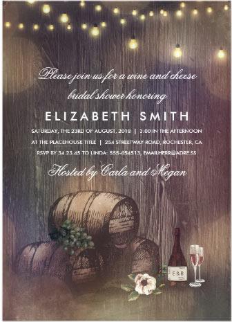 Rustic winery invite
