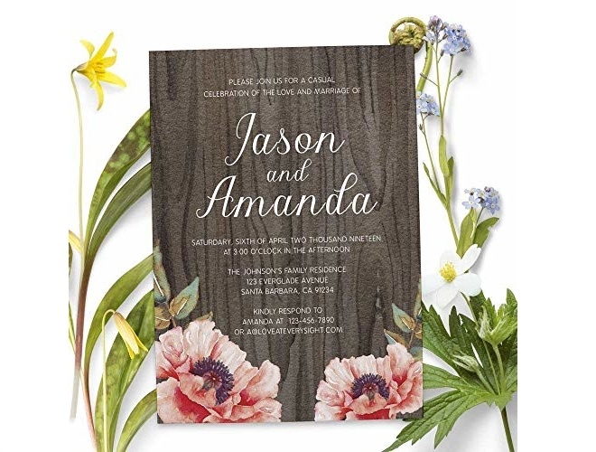 Elopement Reception Invitation - available from Amazon