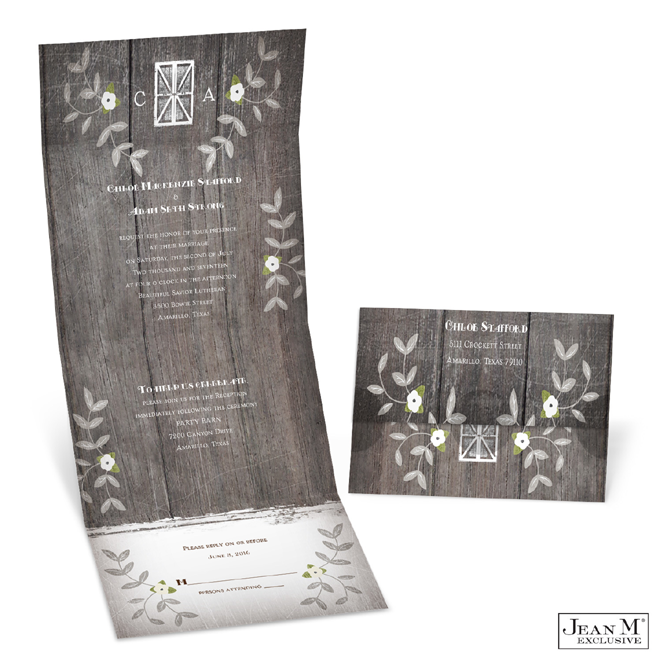 Rustic Vines Seal and Send Invitation via MIchaels