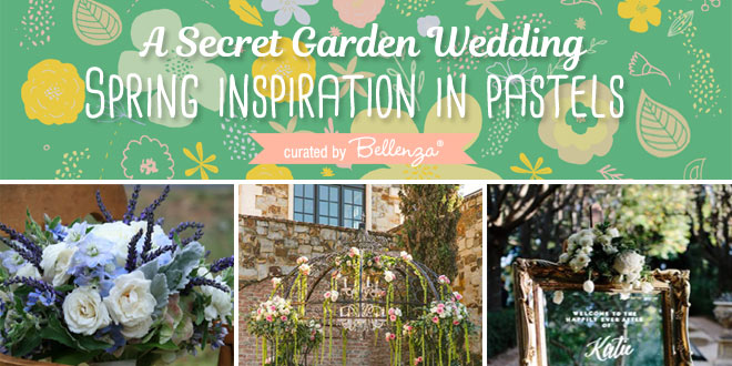 Secret garden themed spring wedidng