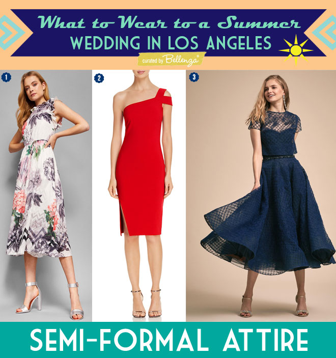 Semi-formal Dresses for a Garden Wedding in Los Angeles