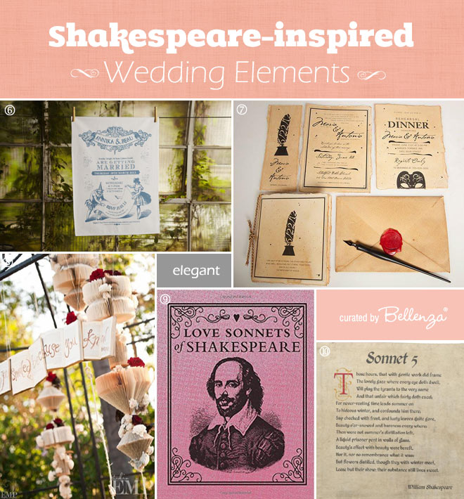 Shakespeare Inspired Wedding Elements You Can Buy