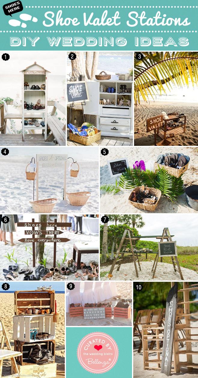 Creative Shoe Valet Ideas for Beach Weddings