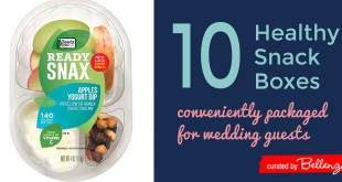 Healthy snacks for wedding guests