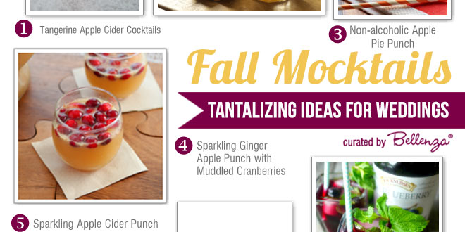 Fall Mocktail Ideas for Wedding Signature Drinks