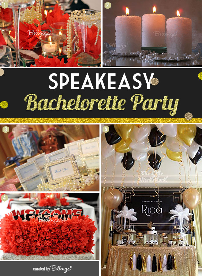 Speakeasy Bachelorette Party Decorations