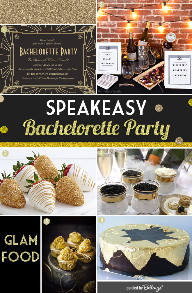 Glam Speakeasy Bachelorette Party Food