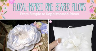 Spring ringbearer pillows with florals.