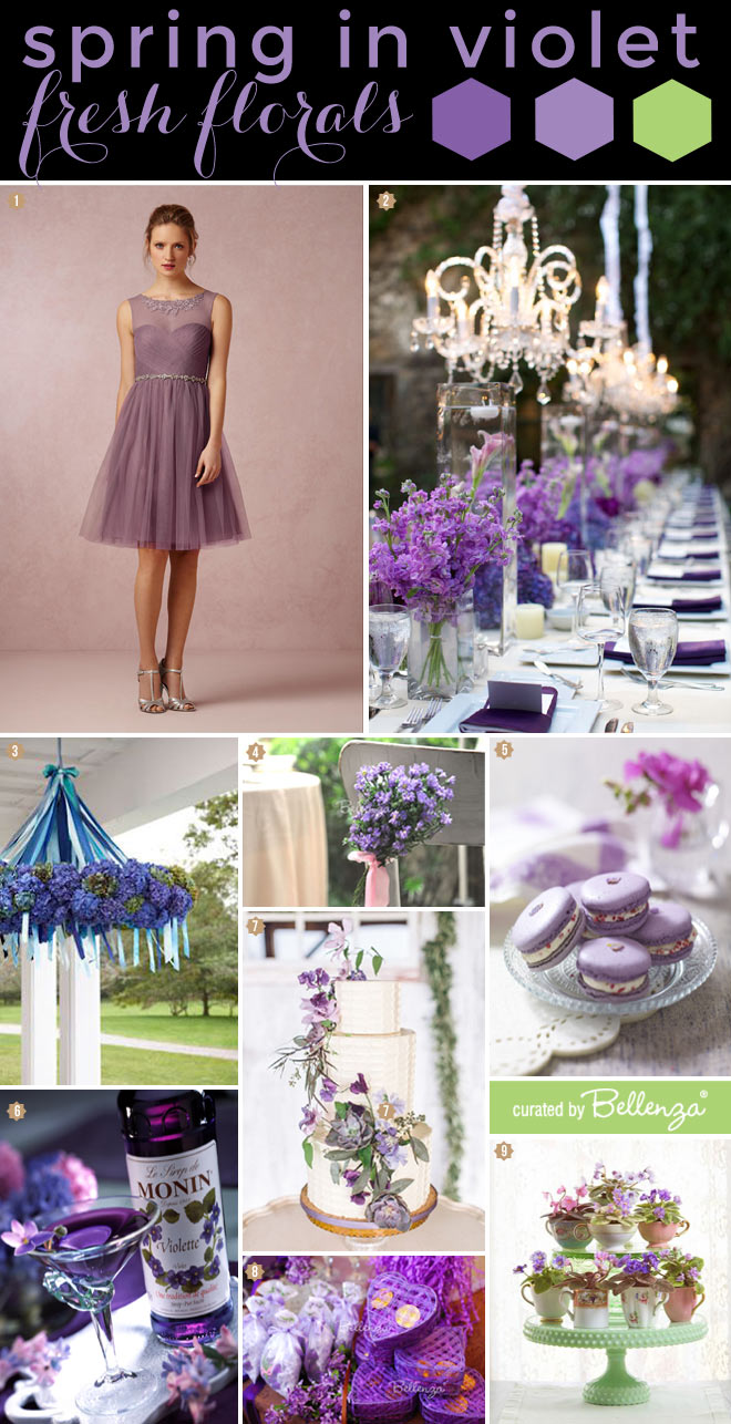Spring Wedding Inspiration in Violet, Purple, and Lavender