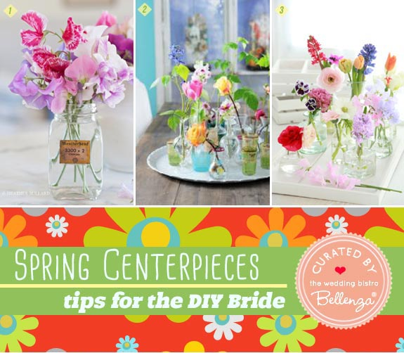 Wildflower spring centerpieces