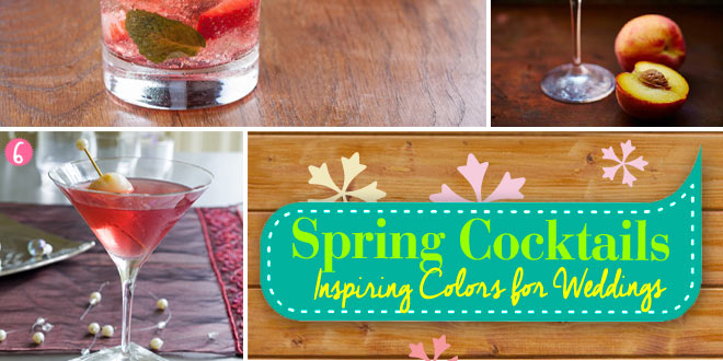 Fruity spring cocktails for weddings
