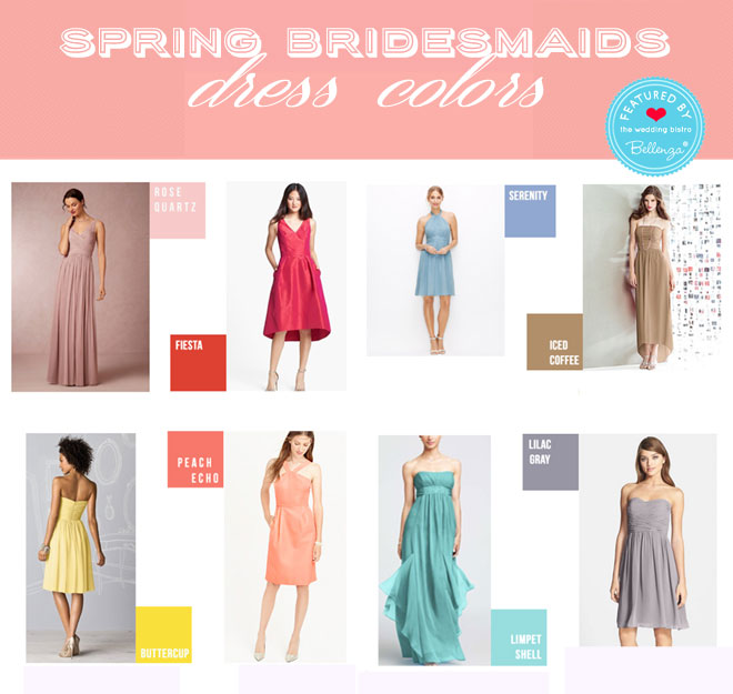 Spring dress colors for bridesmaids