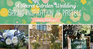 Spring wedding theme inspired by Frances Hodgson Burnett's classic novel The Secret Garden!