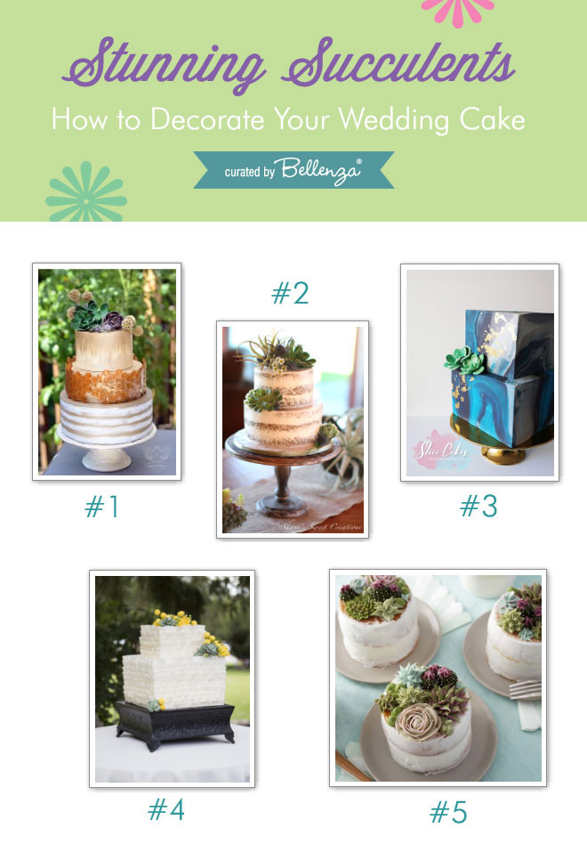 Wedding Cakes with Stunning Succulents!