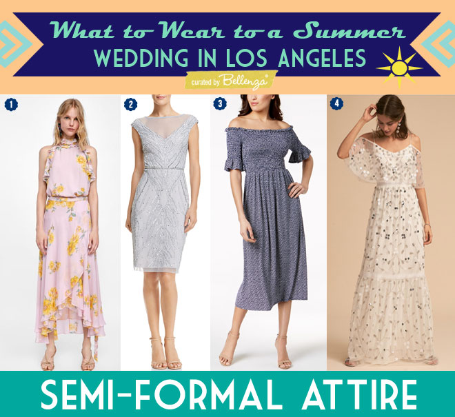 Semi-formal Dresses for a Beach Wedding in LA